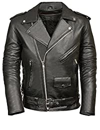 1931trendy Men's Classic Faux Leather Police Style Motorcycle Jacket