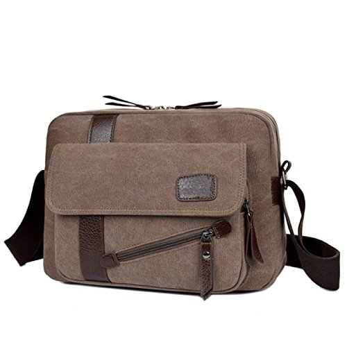Canvas Shoulder Messenger Zaino Da Viaggio Zaino Sling Bag Scuri,3-OneSize