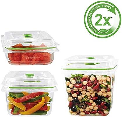 """Foodsaver FFC020X Recipientes para Envasar al Vacío """"Fresh ..."""