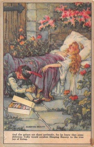 Fralinger's Salt Water Taffy Ad Fantasy Sleeping Beauty Antique Postcard J72840 Fantasia Salt
