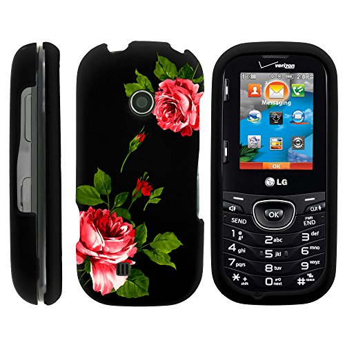 LG Cosmos 3 Case, Slim Fit Snap On Cover with Unique, Customized Design for LG Cosmos 3 VN251S, LG Cosmos 2 VN251 (Verizon) from MINITURTLE | Includes Clear Screen Protector and Stylus Pen - Affectionate Flowers