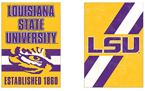 - WinCraft LSU Tigers Garden Flag, Vintage Distressed Edition 12.5 x 18 inches 2 Sided