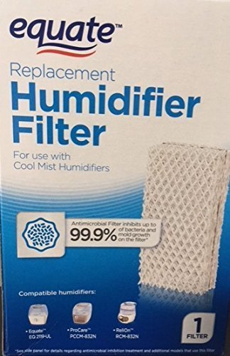 2-Pack Equate Replacement Humidifier Filter PCWF813 For Use With Pro Care Cool Mist Humidifiers Fits Models: ProCare PCCM-832N / AC813, Relion RCM-832N, Robitussin, Duracraft, Sesame Street