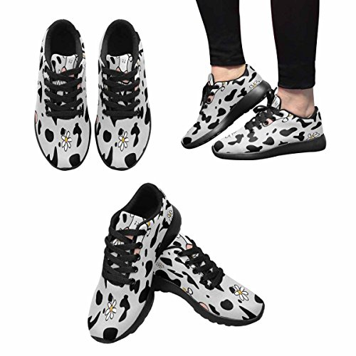 InterestPrint Womens Jogging Running Sneaker Lightweight Go Easy Walking Comfort Sports Athletic Shoes Cow Pattern Multi 1 wdCdxb50