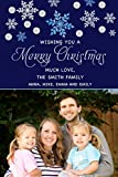 30 Christmas Family Photo Card Santa Sleigh Watercolor Glitter Greeting Personalized Cards Photo Paper