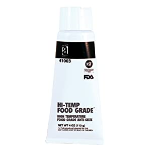 HI-TEMP FOOD GRADE 41003 Anti-Seize Compound, 4 oz, White, Paste
