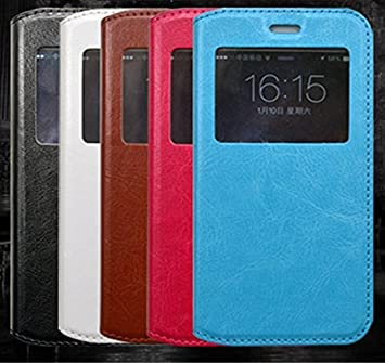 Prevoa ® 丨 XiaoMi Mi 4i Mi4i Mi4C Mi4 C Funda - Flip S - View Funda Cover Case para XiaoMi Mi 4i Mi4i Mi4C Mi4 C 5.0 Pulgadas Android Smartphone - Azul
