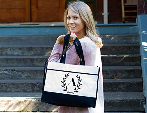 Personalized Monogram Bridesmaid Tote Bags, Gift for Bridesmaids Maid of Honor Wedding Party