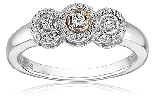 Two Tone Diamond Promise Ring - 5