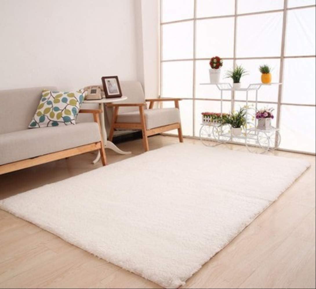 Chzdxgny Living Room Rug Area Solid Carpet Fluffy Soft Home Decor White Carpet Bedroom Carpet Kitchen Floor Mats White Rug 120 X 160cm White Amazon Co Uk Sports Outdoors