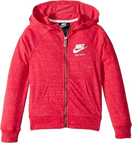 Nike Kids Girl's Gym Vintage Full Zip Hoodie (Little Kids) Rush Pink 6
