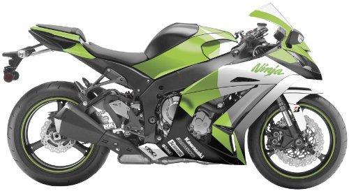 (Factory Effex 15-15114-G EV-R Series OEM Green Color Complete Street Bike Graphic Kit for Kawasaki Ninja 650)