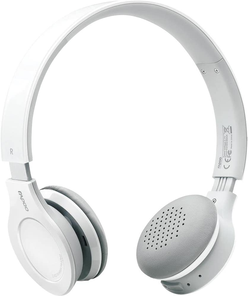 Amazon Com Rapoo 2 4ghz Usb Wireless Headset With Microphone H8020 White Computers Accessories