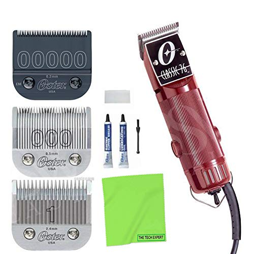 OSTER Classic 76 Universal Motor Clipper 76076010 with Bonus 00000 Detachable Blade and Cleaning Cloth