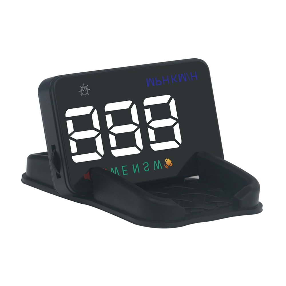 Portta Head Up Display 3.5'' ABS PC HUD with Reflection and HUD Display Model Display Speed Driving Direction Manual Automatic Brightness Adjustment