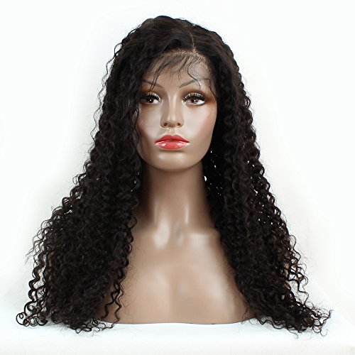 Brazilian Remy Hair 130% Density Full Pre Plucked Natural Hairline Loose Deep Curly Long Human Hair Lace Front Wigs for African American Black Women Black Women with Baby Hair 14inch by Sarah Wig (Image #8)