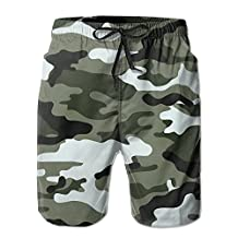 Vvw4 Camouflage Imported Water Beach Board Shorts Bathing Swimming Trunks With Poket