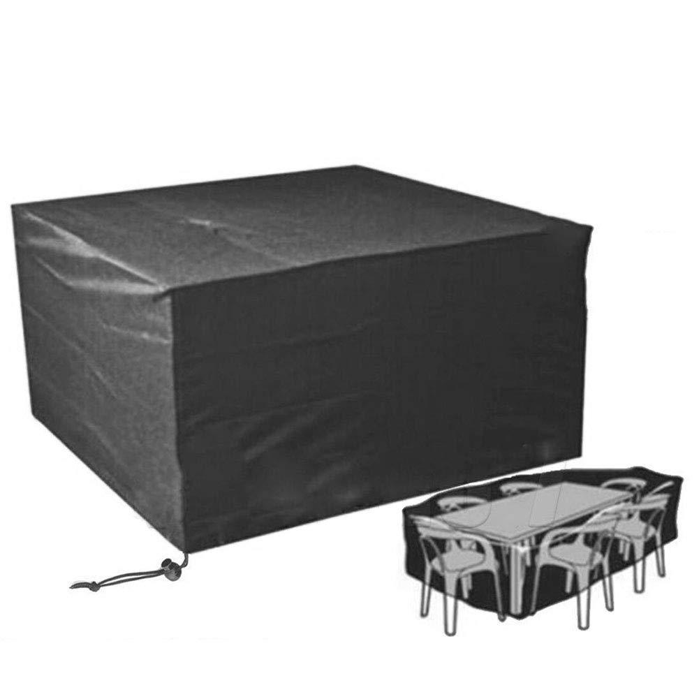 Camping Outdoor Zelte Plane, Wasserdichter PVC-beschichteter Staubschutz, Gartenmöbel Aus Rattan, Schwarz ++ (größe   250x250x90cm)