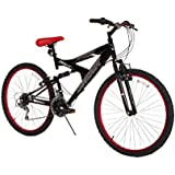"Dynacraft Men's 26"" 21 Speed Equator Bike, 18""/One Size, Black/Red"