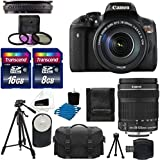 Canon EOS Rebel T6i 24.2 MP Digital SLR Camera USA Warranty with Canon Ef-s 18-135mm F/3.5-5.6 Is STM Lens Tripod Deluxe Case Remote Uv Filter with 24GB Card Complete Deluxe Accessory Bundle
