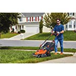 BLACK+DECKER Electric Lawn Mower, 10 -Amp, 15-Inch (BEMW472BH) 19 IMPROVED ERGONOMICS: Comfort grip handle makes the lawn mower easy to maneuver BETTER CLIPPING COLLECTION: Our winged blade achieves 30% better clipping collection NO MORE PULL CORDS: Push-button start makes starting the lawn mower a breeze