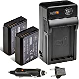 BM Premium 2-Pack of LP-E10 Batteries and Battery Charger Kit for Canon EOS Rebel T3, T5, T6, T7, Kiss X50, Kiss X70, EOS 1100D, EOS 1200D, EOS 1300D, EOS 2000D Digital Camera