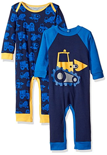 Gerber Boys' 2 Pack Coveralls, Construction, 0-3 Months (Baby Boy Clothes compare prices)