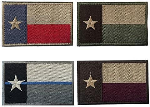Hacha hoz (2 x 3 pulgadas) táctica parches de bandera de Texas, La Moral Militar parche/parche – 4 piezas de varios colores.: Amazon.es: Juguetes y juegos