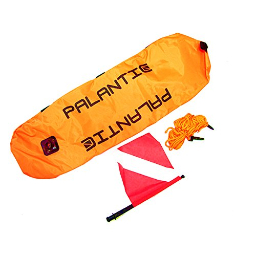 (Palantic Scuba Diving Spearfishing Nylon Torpedo Float with Dive Flag)
