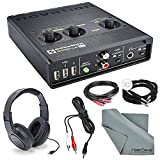 Novation Audiohub 2x4 Combined Audio Interface and USB 2.0 Hub W/ Deluxe Kit- Cables, Samson Stereo Headphones + Fibertique Cleaning cloth