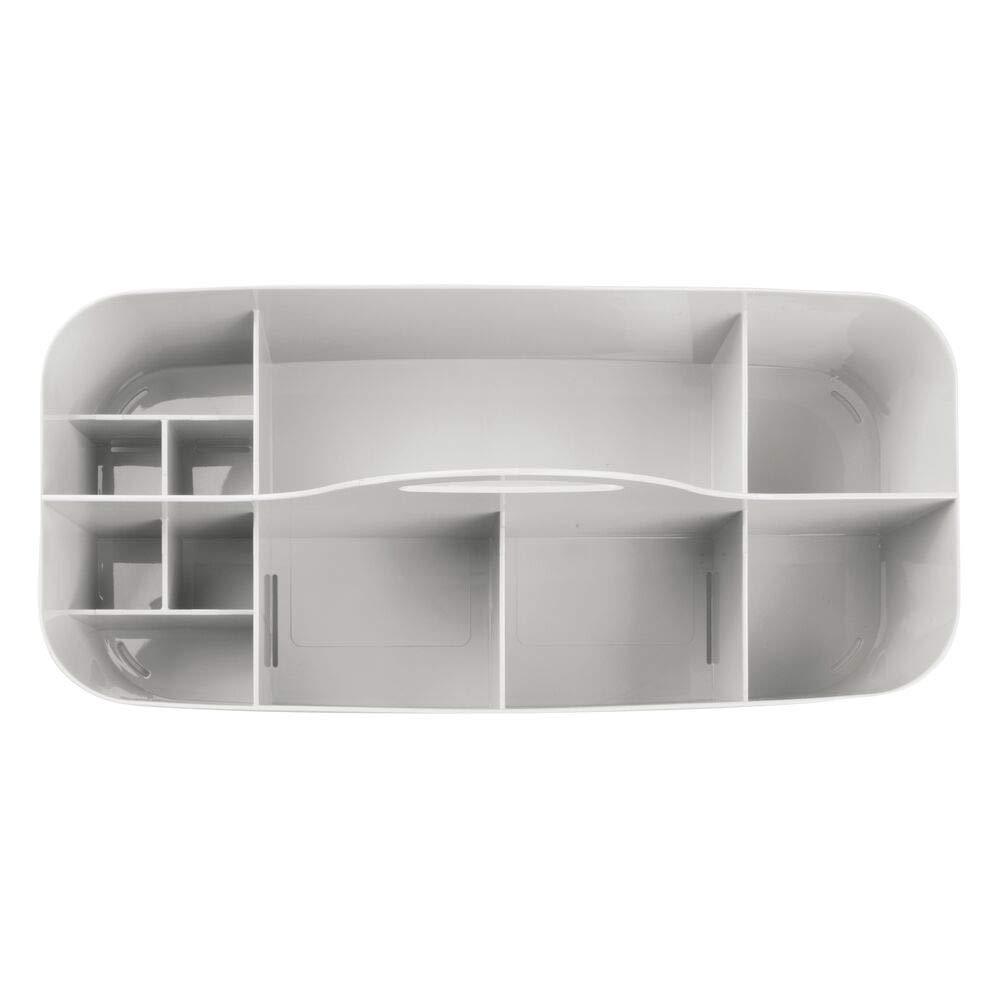 durchsichtig Ordnungssystem mit Griff als Stiftek/öcher mDesign 2er-Set tragbare Aufbewahrungsbox f/ür Bastelbedarf Pinselbox oder f/ür N/ähzubeh/ör Aufbewahrungskorb aus Kunststoff f/ür Bastelsachen