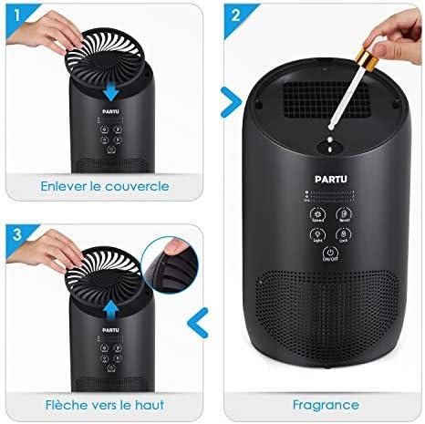 PARTU Purificador de aire, auténtico HEPA y filtro de carbón ...