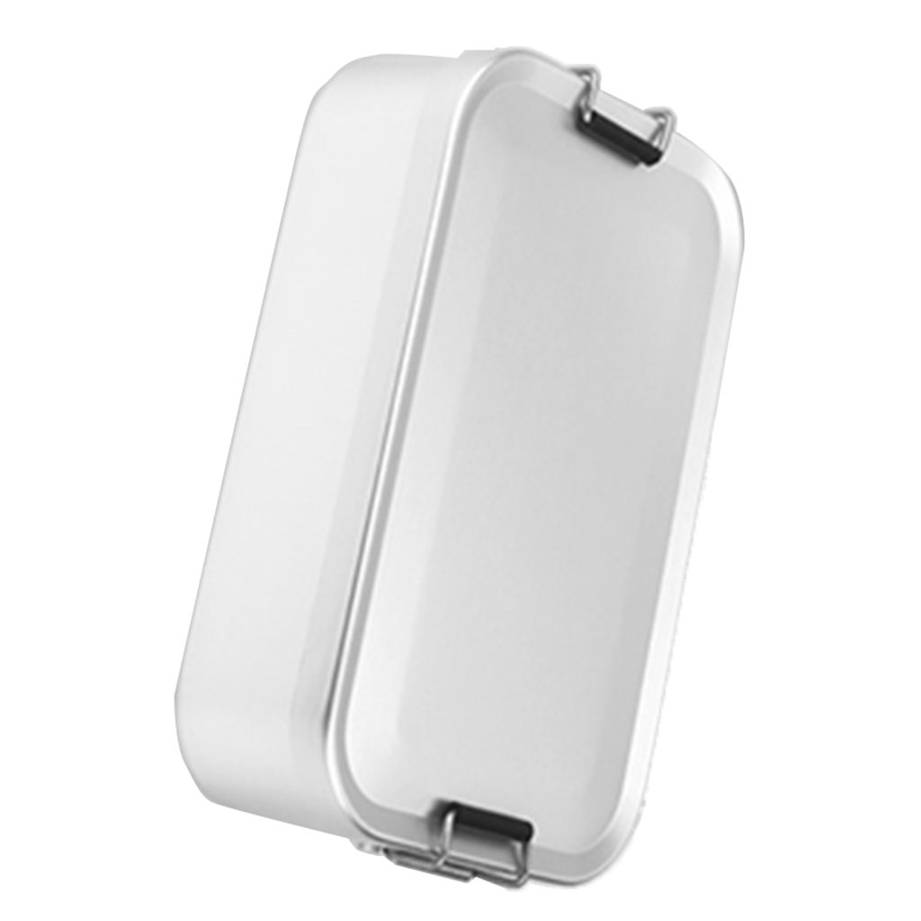 MagiDeal Portable Aluminum Camping Lunch Box Bento Food Container Mess Tin Outdoor Tableware Canteen