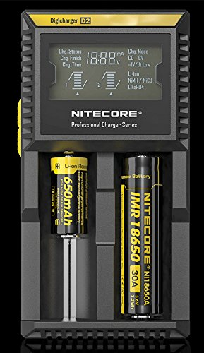 Nitecore D2 DigiCharger for Rechargeable Battery with LCD Display