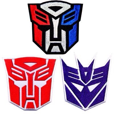 3 Transformers Autobot Decepticon Team Hero Lot Movie Iron on Patch