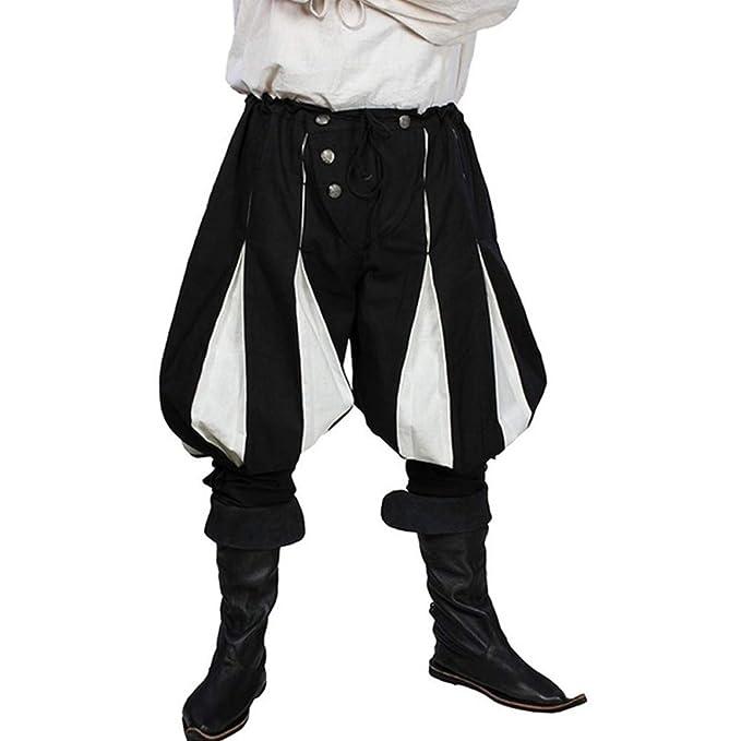MoneRffi Hombres Cosplay Pantalones Cortos gótico Medieval ...
