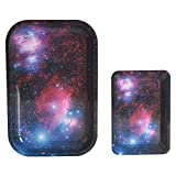 Galaxy Metal Cigarette Rolling Tray Essential Trays Smoke Accessories