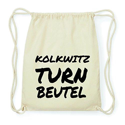 JOllify KOLKWITZ Hipster Turnbeutel Tasche Rucksack aus Baumwolle - Farbe: natur Design: Turnbeutel