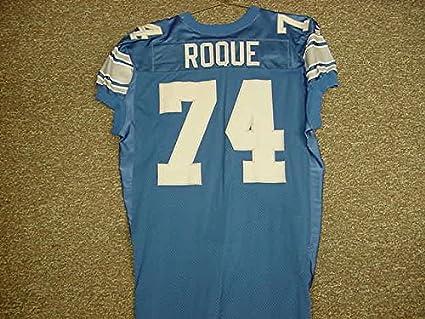 info for c5fca 18946 Juan Roque Detroit Lions Blue Puma Game Worn Jersey at ...