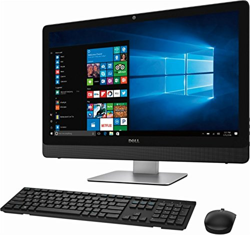 Dell Inspiron 5000 23.8″ FHD Touchscreen Flagship All-in-One Desktop, Intel Quad Core I7-7700T up to 3.8 GHz, 12G RAM, 1TB HDD, DVD-RW, WiFi, Bluetooth, Webcam, Wireless Keyboard & Mouse, Windows 10