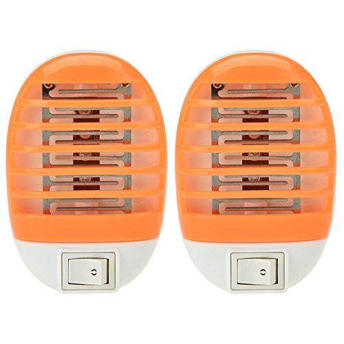 LinkBro 2-pack LED Mosquito Killer Lamp,Electronic Insect Killer,Bug Zapper Mini Light Lamp [Orange]