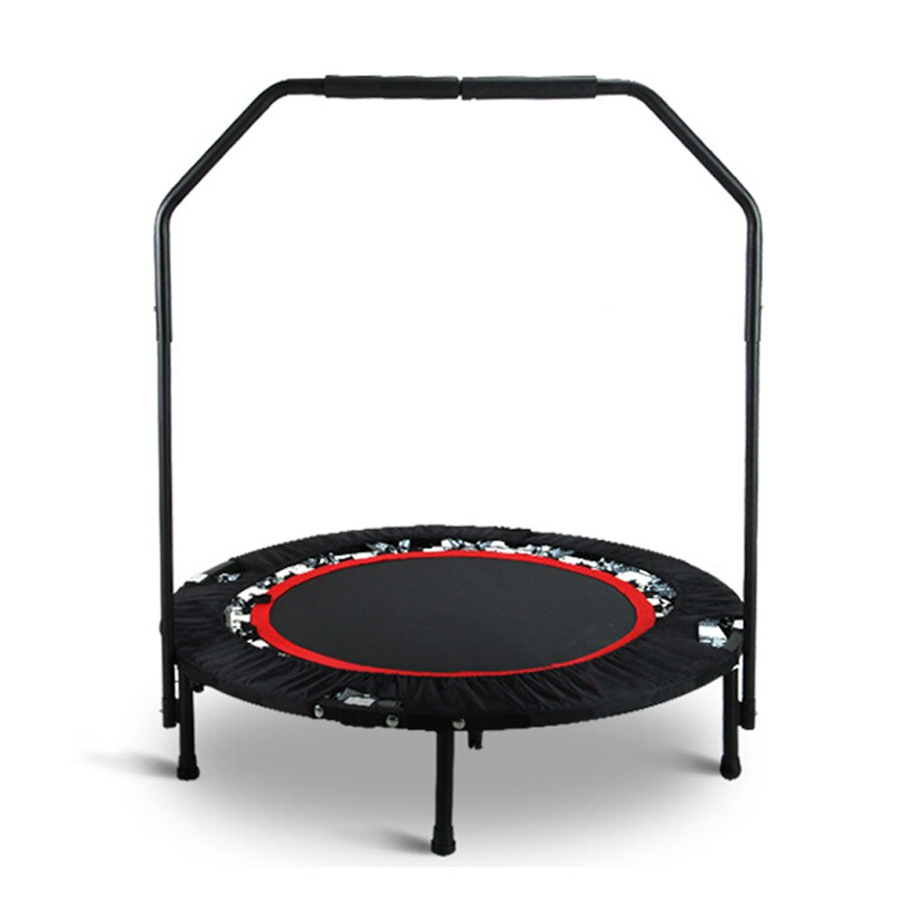 Alritz Fitness Trampoline with Handle, 40-Inch Foldable Workout Rebounder with Handrail | Stable Exercise | Safe and Secure | Long Lasting Bungees | Cardio Training | for Kids and Adults (Black)