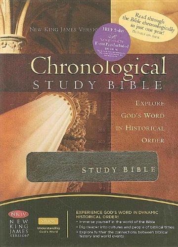 Chronological Study Bible: King James Version Chronical Study Bible Mahogany Genuine Leather