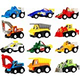 Toy Cars for Toddlers Boys Kids - Pull Back Truck and Car Party Favors for Kids, Construction Birthday Party Supplies, Mini Toy Cars for Toddlers Boys Girls ( 12 Pcs )
