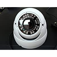 HD-CVI 1MP CMOS 720p HD Indoor/Outdoor IP66-rated 36 IR LED,Varifocal 2.8-12mm lens, BNC 12V Dome/Eyeball Hi-Definition Security Camera (white)