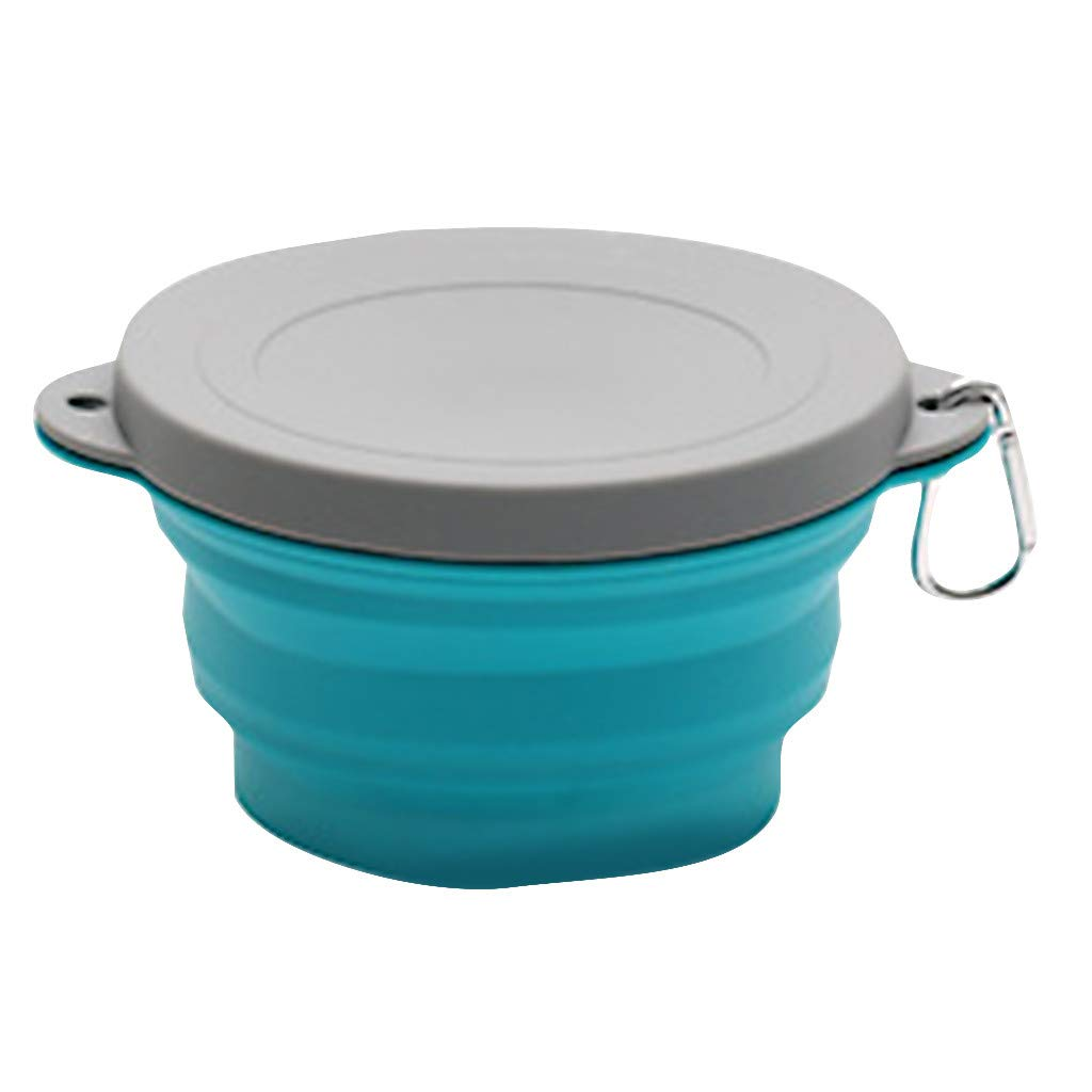 Frog Fun Most.Wished.For | Outdoor Portable Silicone Folding Bowl Picnic Bowl Creative Travel Bowl (Blue) by Frog Fun - Creative Home Kitchen Supplies