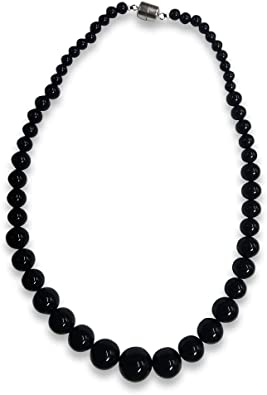 12mm black stone necklaces,single black bead necklace,round agate necklaces,mother necklace,wedding jewelry black agate necklaces