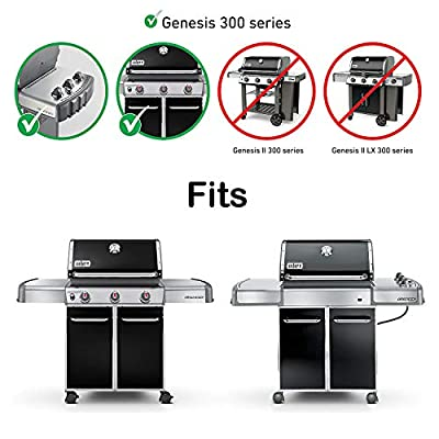 QuliMetal #304 7528 Stainless Steel Cooking Grates (19.5 x 12.9 x 0.6) for Weber Genesis E and S Series 300 E310 E320 S310 S320 Gas Grills