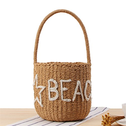 Manualbages Beach Bag Women Casual Summer Travel Straw Bags Women Lady Tote Basket Weave Tie Black White Vintage Rattan Ss3099