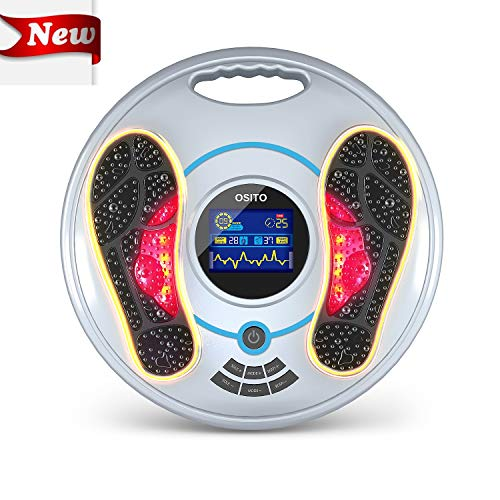 Latest Foot Massager EMS & TENS Electric Foot Massager-FDA Approved Foot Circulation Machine, Foot Energizer-Relieve Feet, Legs & Ankles Pain, 99 Intensity Levels and 25 Different Massage Modes (New) 2019